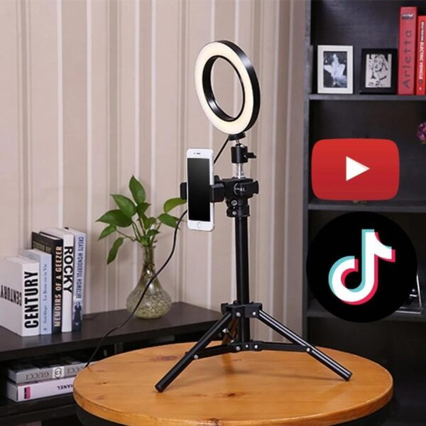 New 16CM LED Studio Camera Ring Light Photo Phone Video Lamp Fill