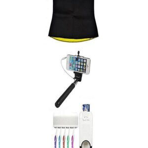 Pack of 3 - Hot Shapers Hot Belt with Selfie Stick & Toothpaste Dispencer