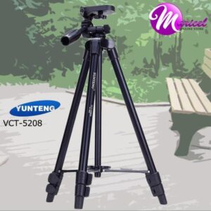 Aluminum Tripod with 3 Way Head & Bluetooth Remote for Camera and Mobile VCT 5208 TRIPOD