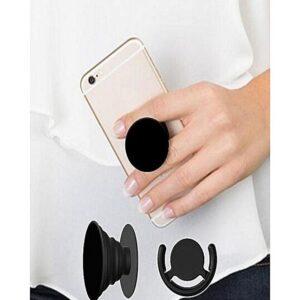 Pop Socket For Mobiles / Tablets With Pop Clip (Bracket) - Black