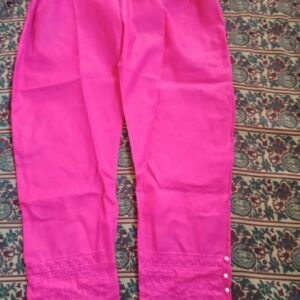 New Collection Cotton standard 1-Piece Trouser stitched pants for girls women with embroidery