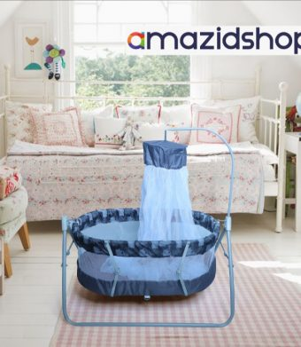 Baby cradle swing In Metal Frame Cot & bed With Stand Support & Mosquito Net