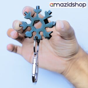18 IN 1 Stainless Tool Tools DIY Multi Tool Portable Snowflake Shape KeyChain Screwdriver